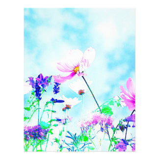Wildflowers In Nature Letterhead