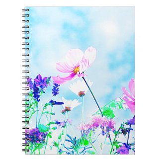 Wildflowers In Nature Spiral Notebook