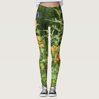 Wildflowers Leggings Flowers Green