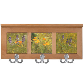 Wildflowers Lupin Poppies Floral Coat Rack