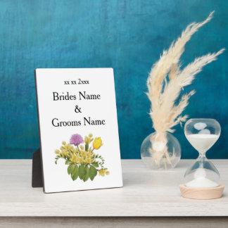 Wildflowers Modern Simple Elegant WeddingIdeas Plaque