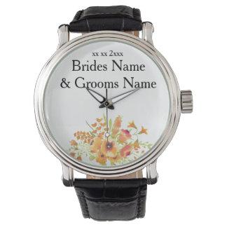 Wildflowers Modern Simple Elegant WeddingIdeas Wrist Watch