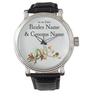 Wildflowers Modern Simple Elegant WeddingIdeas Wristwatches
