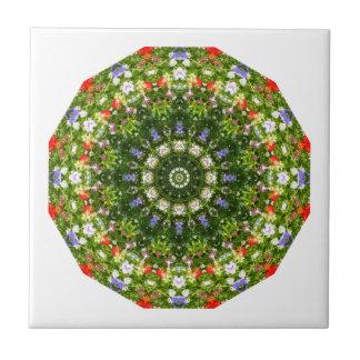 Wildflowers Nature, Flower-Mandala Tile