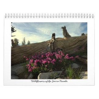 Wildflowers of the Sierra Nevada Calendar