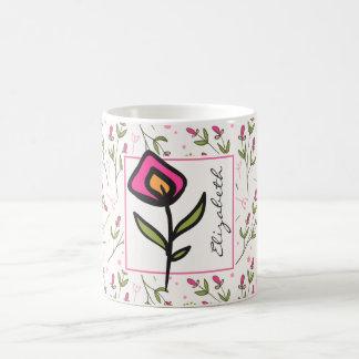 Wildflowers - Pink and Orange Petals Personalized Coffee Mug