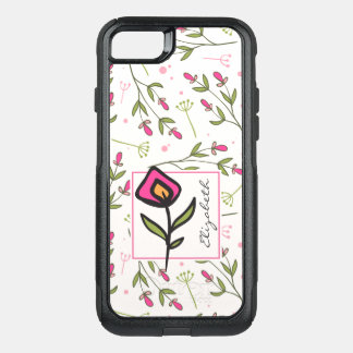 Wildflowers - Pink and Orange Petals Personalized OtterBox Commuter iPhone 7 Case