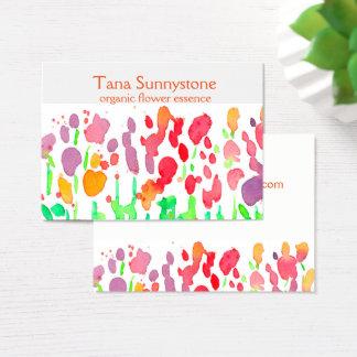 Wildflowers Rainbow Colors Business Card