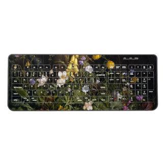 Wildflowers Ranunculus Foxglove Flowers Keyboard