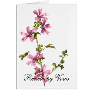 Wildflowers Renewing Vows Note Card