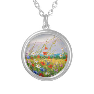 Wildflowers Silver Plated Necklace