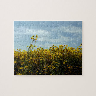 Wildflowers Sunflowers Jigsaw Puzzle