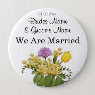 Wildflowers Wedding Souvenirs Keepsakes Giveaways 4 Inch Round Button