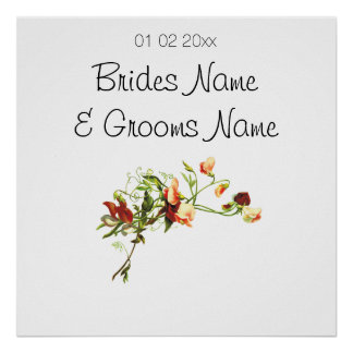 Wildflowers Wedding Souvenirs Keepsakes Giveaways Poster