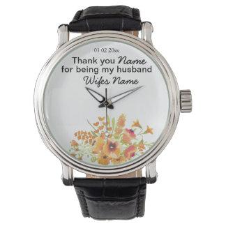 Wildflowers Wedding Souvenirs Keepsakes Giveaways Watches