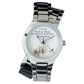 Wildflowers Wedding Souvenirs Keepsakes Giveaways Wrist Watch