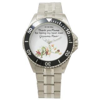 Wildflowers Wedding Souvenirs Keepsakes Giveaways Wrist Watches