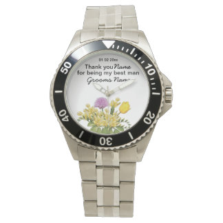 Wildflowers Wedding Souvenirs Keepsakes Giveaways Wristwatches