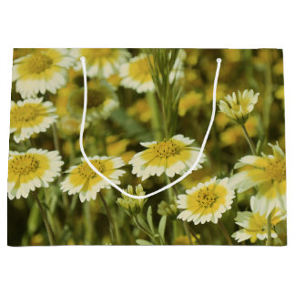 Wildflowers Yellow and White Sunflowers Large Gift Bag