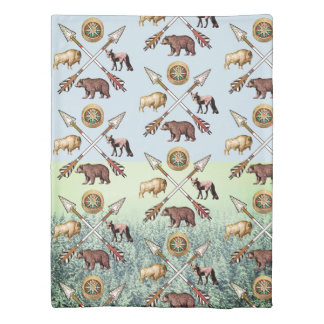 Wildlife And Crossed Arrows Twin Duvet Cover