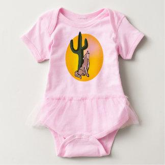 Wildlife, baby clothes, bodysuit, animals, coyote baby bodysuit