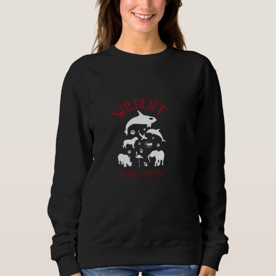 Wildlife Because it matters WhiteSilhouette Shirt
