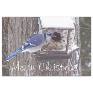 Wildlife Blue Jay Christmas Greeting Tissue Tissue Paper