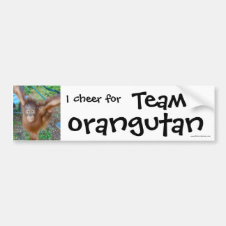 Wildlife Cheerleader : Team Orangutan Bumper Sticker