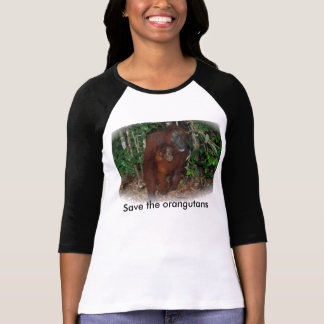 Wildlife Conservation : Great Ape Mother and Baby T-Shirt