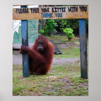 Wildlife Conservation v Litter and Trash Poster