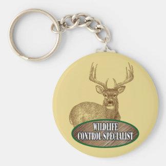 Wildlife Control Specialist Basic Round Button Keychain