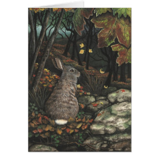 Wildlife Cottontail Rabbit by BiHrLe Card