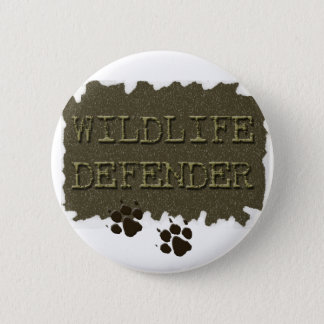 wildlife defender with pawprints 2 inch round button