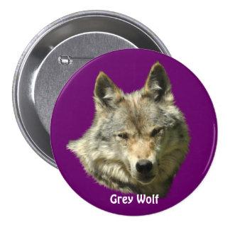 Wildlife Grey Wolf Animal-lover design Pinback Button