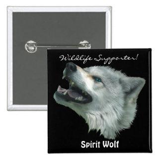 Wildlife Grey Wolf Animal-lover design Pins