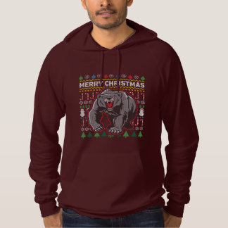 Wildlife Grizzly Bear Merry Christmas Ugly Sweater