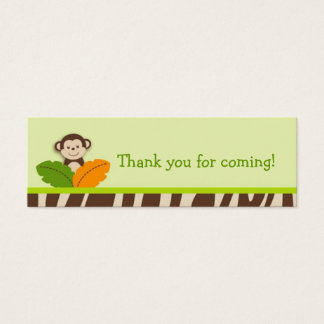 Wildlife Jungle Animal Party Favor Gift Tags Mini Business Card