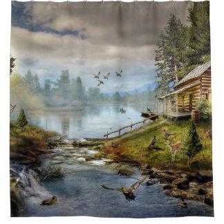 Wildlife Landscape Shower Curtain