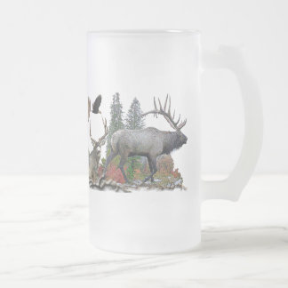 Wildlife of north America Frosted Glass Beer Mug