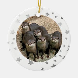 Wildlife Otter Stars Christmas Ornament