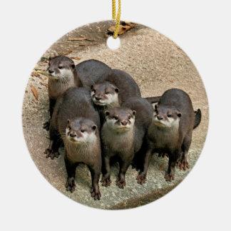 Wildlife Otters Christmas Ornament