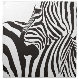 Wildlife Print, Zebra Napkin