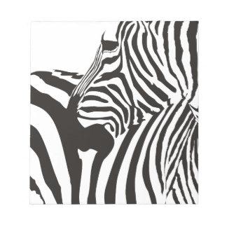 Wildlife Print, Zebra Notepad