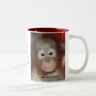 Wildlife Rainforest Charity Two-Tone Coffee Mug