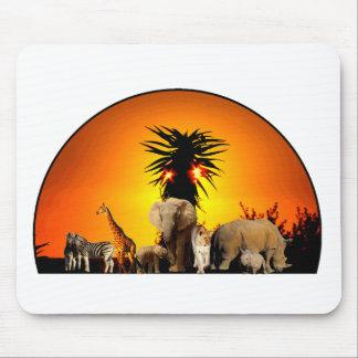 wildlife sunset mouse pad