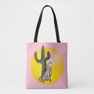Wildlife tote, wild animals, coyote tote bag