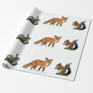 Wildlife wrapping paper
