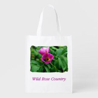 Wildly rose Country Reusable Grocery Bag