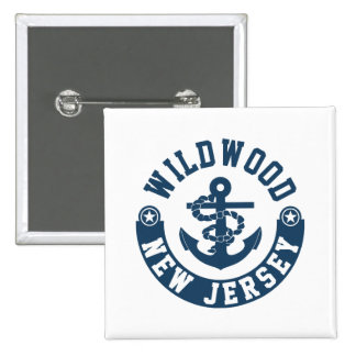 Wildwood New Jersey 2 Inch Square Button