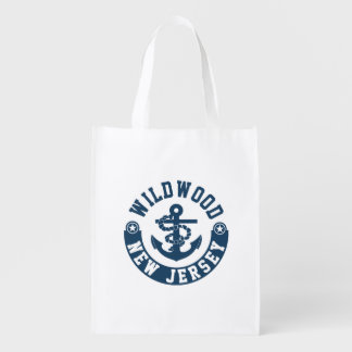 Wildwood New Jersey Reusable Grocery Bag